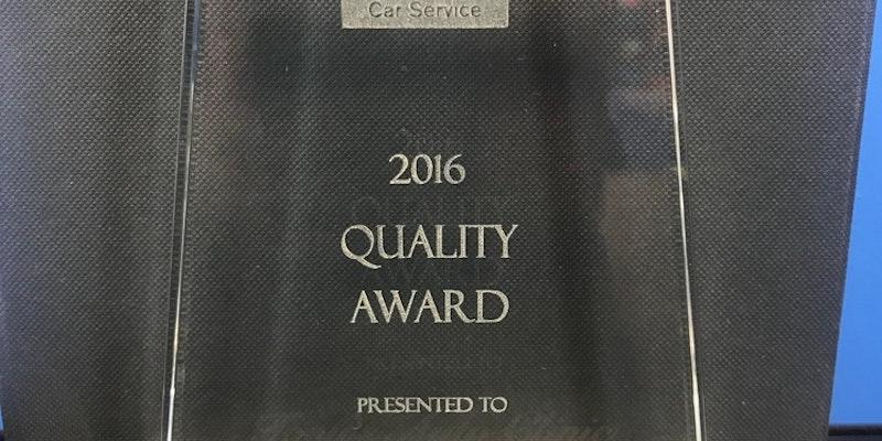Tony's Auto Clinic Wins Bosch Car Service Quality Award