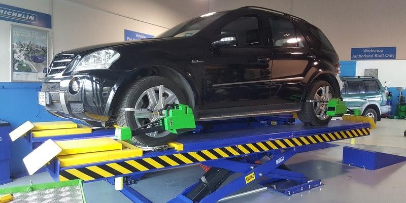 New Hoist and Bosch Wheel Alignment Machine